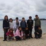 En la playa de la Isla de Aurosa.