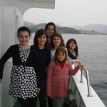 Viaje por la ría de Vigo en barco.